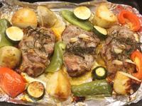 大蒜烤豬肉