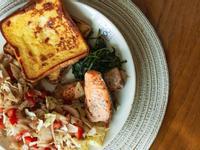 法式吐司&香料烤鮭魚【早午餐系列】