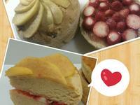 焦糖蘋果戚風蛋糕【卡特莉的點心】草莓夾層