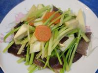 芹菜炒茭白筍