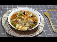 免開火懶人電鍋料理~鮮菇三色豆蒸豆腐