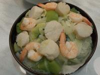 絲瓜高麗菜干貝蝦