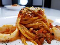 義式蕃茄肉醬透抽意大利麵