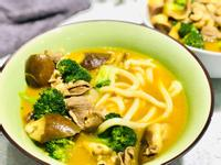 肉片茄子花椰菜咖哩湯烏龍麵