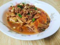 蔥燒肉醬豆腐(簡單快速就能上菜)