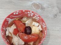 番茄高麗菜雞腿排湯