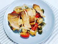 [零廚藝]蒙特婁香料烤時蔬鯛魚