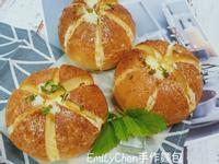 【手揉麵團】韓國香蒜爆漿麵包