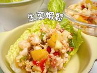 简单料理之生菜虾松