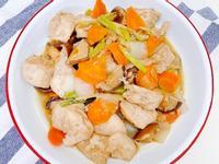 [自創菜色]五香醬油風味炒雞肉