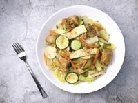 /健人料理/和風洋蔥腿排溫沙拉