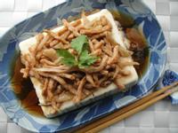 榨菜素肉絲蒸豆腐