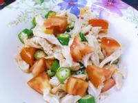 減脂增肌餐~雞胸肉絲拌番茄秋葵~營養好吃