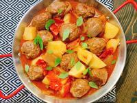 蕃茄馬鈴薯牛肉丸