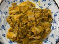 麻油炒花生醬南瓜木耳五花肉