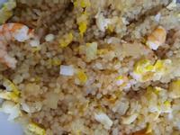 蝦仁菇菇蛋炒蒟蒻米