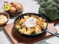 減醣焗烤白醬雙色花椰菜