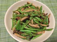 素肉炒香菇四季豆
