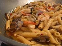 酸辣海鮮湯義大利麵