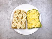 /健人料理/酪梨起司蛋、香蕉花生醬吐司