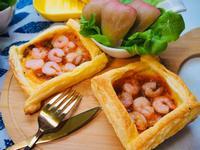『晚餐食譜』- 蝦仁蘑菇醬烤起酥盒