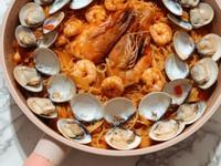 西班牙番茄海鮮天使麵