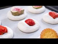 只需三種材料的超簡單的棉花糖餅乾~😍