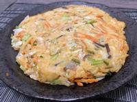 蔬菜透抽煎餅(麵粉少版)