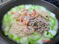 有海味的絲瓜肉燥麵~可佐飯(飯湯)