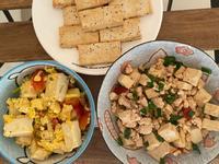 豆腐三吃一鍋煎(乾煎/蕃茄炒蛋/肉末)