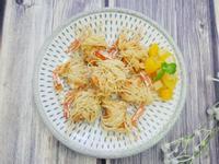 餐廳菜「麵線蝦」酥脆無比、好美味~