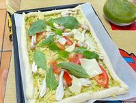氣炸 DIY披薩🍕自己尬青醬好簡單♥️