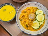 南瓜海鮮燉飯(無洋蔥)/南瓜濃湯