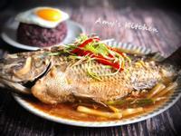 蔥燒魚 (台灣鯛)
