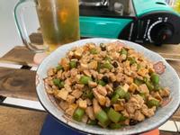 下酒菜-三豆雞丁(豆豉/豆干/豇豆)