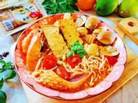 南洋叻沙油豆腐海鮮麵[中華鹽滷油豆腐]
