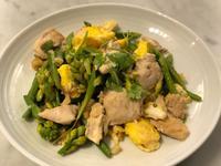 晚香玉筍炒雞肉蛋