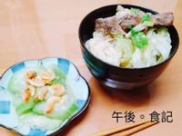 麻油豬拌麵線+蝦米絲瓜