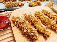 脆片炸雞柳❣️免油烤箱版
