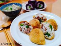 牛肉豆皮壽司+紫地瓜壽司+味噌湯