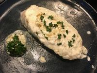 嫩煎鮭魚佐白酒奶油(1人份)
