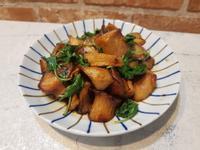 三杯杏鮑菇(氣炸鍋省油簡單料理)