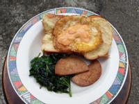 肉排蛋吐司與蒲瓜排骨湯
