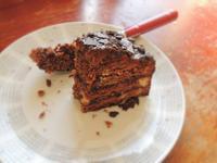 扎實雙層巧克力蛋糕