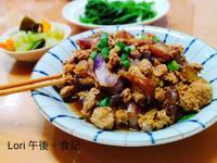 茄子肉燥+昆布燉黃瓜+燙青菜