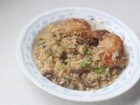 蒜香蘑菇雞腿飯