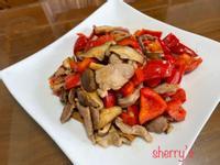 甜椒&香菇&豬肉的組合