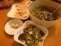 Jamie oliver 15分鐘上菜 - 青醬細麵+檸檬蒸魚