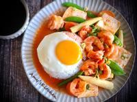 鮮蝦豆腐燴飯/一鍋到底