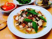 塔香蚵仔豆腐+涼拌番茄+淺滷蘿蔔